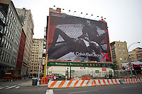 A Calvin Klein billboard in the Soho neighborhood of New York on Saturday, December 25, 2010. Klein's advertisements use sex and provocative images to test society's cultural and moral boundries. (© Richard B. Levine)