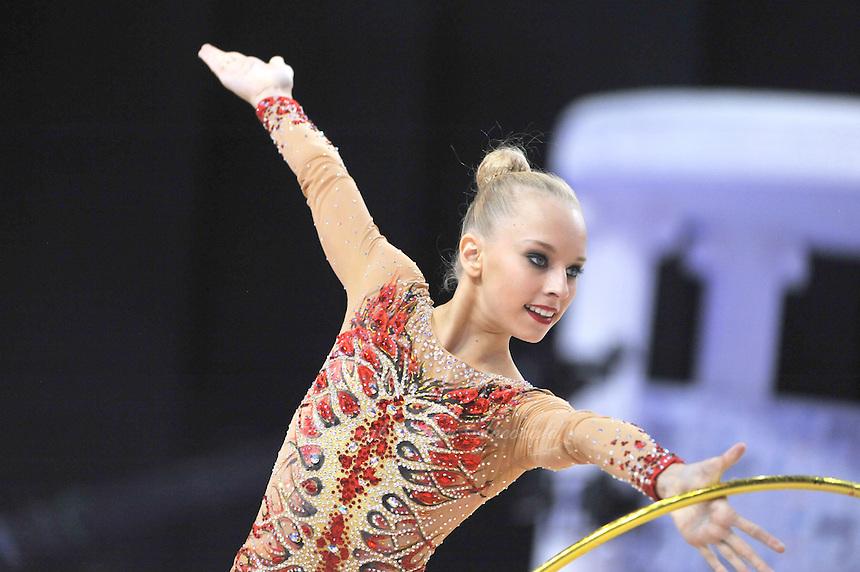 September 26, 2014 - Izmir, Turkey -  YANA KUDRYAVTSEVA of Russia performs at 2014 World Championships.