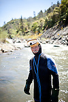 Gold miner James Butler poses for a portrait in Deer Creek on his mining claim in the Sierra foothills near Smartsville, California, April 19, 2012..CREDIT: Max Whittaker/Prime for The Wall Street Journal.MINER