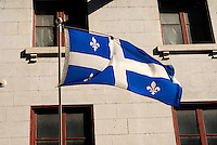 Flag of the province of Quebec, Old Montreal, Quebec, Canada