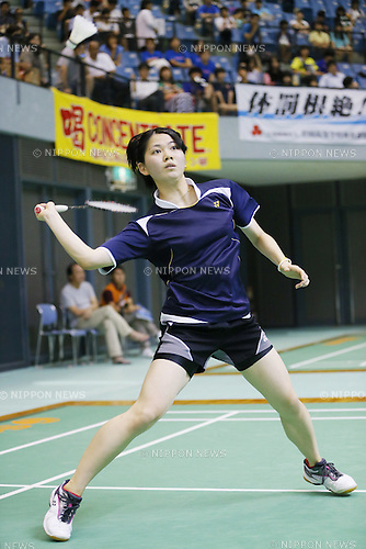 Yukino Nakai (Nihonbashi Jogakan), August 6, 2014 - Badminton : 2014 All-Japan Inter High School Championships, Women's singles semi final at Chiba port Arena, Chiba, Japan. (Photo by Yusuke Nakanishi/AFLO SPORT)