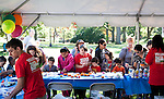 Residents, neighbors and friends celebrate the eleventh annual Community Day at Tufts University. (Zara Tzanev for Tufts University)
