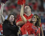 Ole Miss fans cheer against Southern Illinois at Vaught-Hemingway Stadium in Oxford, Miss. on Saturday, September 10, 2011.