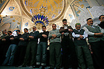Photo by Heathcliff Omalley..Kazan 2 November 2007.Muslim Russians worshipping at the Kul Sharif Mosque in Kazan, the capital of the oil rich region of Tartarstan. Statistics show that the Russian Muslims population could overtake the Christian Orthodox in the next thirty years.