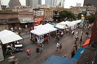 The Pecan Street Festival features local musicians who provide entertainment on three stages, beginning at noon and continuing into the late evening hours, and proceeds benefit local non-profit organizations.