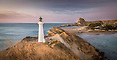 Pre-dawn panorama, Castlepoint lighthouse, Wairarapa Coast