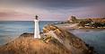 Pre-dawn panorama, Castlepoint lighthouse, Wairarapa Coast