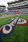 29 March 2008: The Washington Nationals infield is painted and ready for opening day prior to an exhibition game against the Baltimore Orioles at Nationals Park, in Washington, DC. The matchup was the first professional game played in the new ballpark, prior to the upcoming official opening day inaugural game. ..Mandatory Photo Credit: Ed Wolfstein Photo