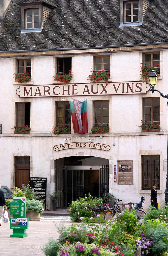 wine shop marche aux vins beaune cote de beaune burgundy france