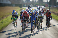 Tom Boonen (BEL/Etixx-QuickStep) leading a select group containing Peter Sagan (SVK/Tinkoff-Saxo) &amp; Stig Broeckx (BEL/Lotto-Soudal) among others into the finale<br /> <br /> Kuurne-Brussel-Kuurne 2016
