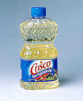 HYDROGENATION PROCESS: CRISCO OIL &amp; SHORTENING (Variations Available)<br /> Liquid Fat Converted To Solid<br /> A bottle of Crisco vegetable oil.