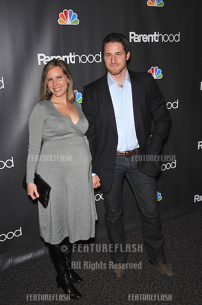 "Sam Jaeger & wife at the premiere for his new NBC TV series ""Parenthood"" at the Directors Guild of America..February 22, 2010  Los Angeles, CA.Picture: Paul Smith / Featureflash"