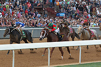 HOT SPRINGS, AR - MARCH 18: Malagacy #6, ridden by Javier Castellano before crossing the finish line in the Rebel Stakes race at Oaklawn Park on March 18, 2017 in Hot Springs, Arkansas. (Photo by Justin Manning/Eclipse Sportswire/Getty Images)