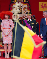 Royal Belgian family attends the Military Parade on National Day - Belgium