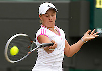 ASHLEIGH BARTY (AUS) (12) against IRINA KHROMACHEVA (RUS) (3) in the final of the Girls Singles. Ashleigh Barty beat Irina Khromacheva 7-5 7-6..Tennis - Grand Slam - Wimbledon - AELTC - London- Day 13 - Sun July 3rd 2011..© AMN Images, Barry House, 20-22 Worple Road, London, SW19 4DH, UK..+44 208 947 0100.www.amnimages.photoshelter.com.www.advantagemedianetwork.com.