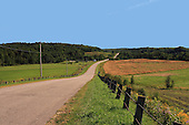 Country rural road in summer, Rang Ruisseau Plat, St-eduard-de-Maskinonge, Quebec