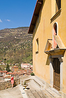 church in the small mountain village of Lantosque, France