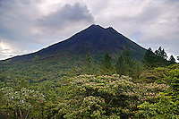 The Arenal Volcano from the Arenal Observatory Lodge which was originally built by the Smithsonian Institute for scientists to use to observe the Arenal Volcano, Costa Rica
