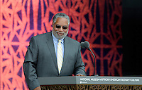 Founding Director of the NMAAHC Dr. Lonnie Bunch smiles at the opening ceremony of the Smithsonian National Museum of African American History and Culture on September 24, 2016 in Washington, DC. The museum is opening thirteen years after Congress and President George W. Bush authorized its construction. <br /> Credit: Olivier Douliery / Pool via CNP / MediaPunch