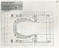 1967 ..Redevelopment..Downtown North (R-8)..Studio Nervi Blueprints for Scope Convention Center and Chrysler Hall...NEG#..