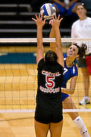 SAN ANTONIO, TX - AUGUST 24, 2007: The University of Central Missouri Jennies vs. the St. Mary's University Rattlers Women's Volleyball at the Bill Greehey Arena. (Photo by Jeff Huehn)