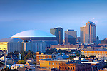 The Superdome is a part of the New Orleans skyline in the city's Central Business District.