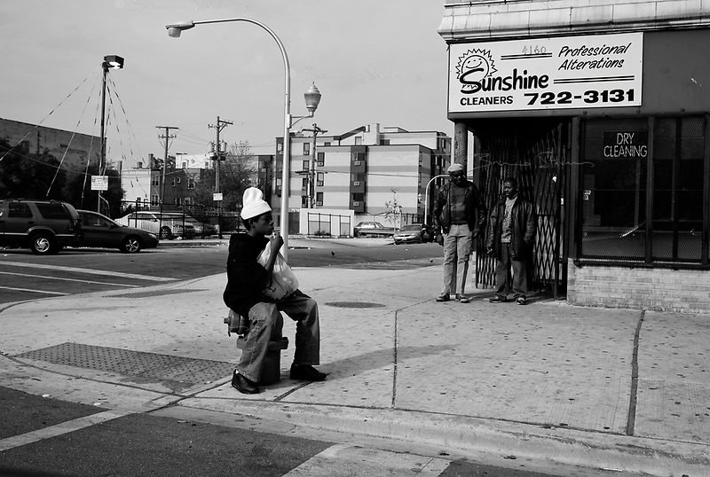 Chicago, Illinois, Nov 2, 2008..Drugs and alcool take their toll even amongst the youngest. Westside Chicago is one of the poorest and most violent part of the city:drugs, alcool, traffics of all kinds show up everywhere.
