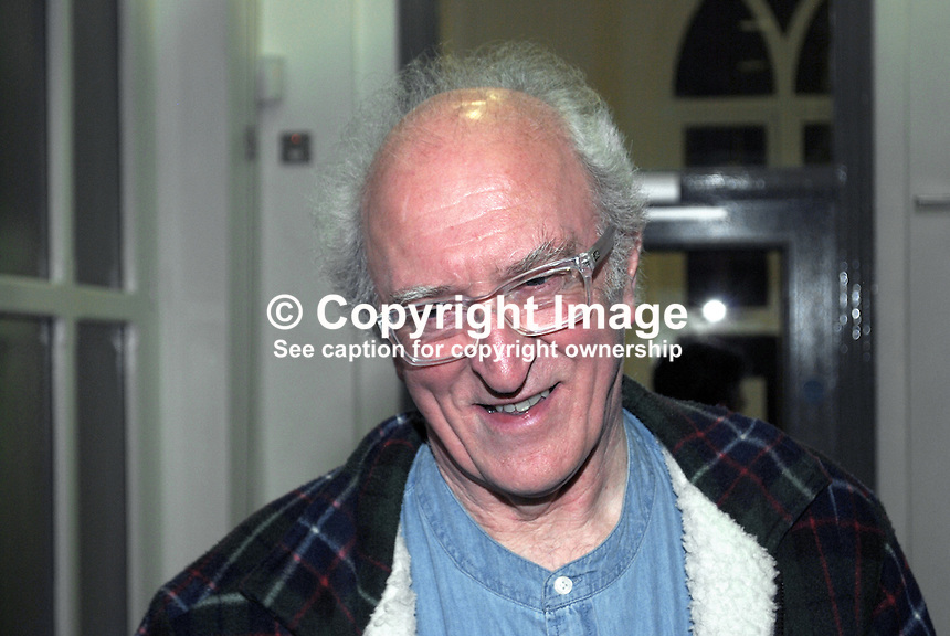 Neil Shawcross, born Lancashire, England, resident N Ireland for 50 years, painter, artist, lives HIllsborough, Co Down, at Bobbie Hanvey Photo Exhibition, Down Arts Centre, Downpatrick. 201201205696...Copyright Image from Victor Patterson, 54 Dorchester Park, Belfast, United Kingdom, UK...For my Terms and Conditions of Use go to http://www.victorpatterson.com/Victor_Patterson/Terms_%26_Conditions.html