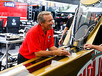 Aug 19, 2016; Brainerd, MN, USA; NHRA team owner Don Schumacher during qualifying for the Lucas Oil Nationals at Brainerd International Raceway. Mandatory Credit: Mark J. Rebilas-USA TODAY Sports