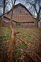 Old barn located outside of Tahlequah Oklahoma.
