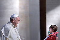 Pope Francis  during his weekly general audience in St. Peter square at the Vatican, Wednesday.September 9, 2015.