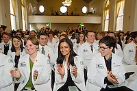 White Coat Ceremony, class of 2015. Stephanie Brooks, from left, Medhavi Bole, Shannon Blaney.