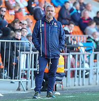 Cheltenham Town's stand-in manager Russell Milton watches on<br /> <br /> Photographer Alex Dodd/CameraSport<br /> <br /> The EFL Sky Bet League Two - Blackpool v Cheltenham Town - Saturday 22nd April 2017 - Bloomfield Road - Blackpool<br /> <br /> World Copyright &copy; 2017 CameraSport. All rights reserved. 43 Linden Ave. Countesthorpe. Leicester. England. LE8 5PG - Tel: +44 (0) 116 277 4147 - admin@camerasport.com - www.camerasport.com