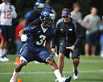 Ole Miss' Charles Sawyer (3) at  spring practice in Oxford, Miss. on Friday, March 23, 2012. (AP Photo/Oxford Eagle, Bruce Newman)