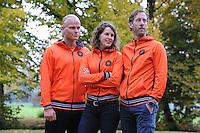 SCHAATSEN: YSBRECHTUM, 23-10-2015,  Team4Gold perspresentatie, Koen Verweij, Ireen Wüst, Rutger Tijssen, ©foto Martin de Jong