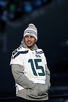 Seattle Seahawks wide receiver Jermaine Kearse (15) smiles while looking out over the fans attending the Super Bowl Championship celebrations at CenturyLink Field on February 5, 2014 in Seattle, Washington. ©2014. Jim Bryant Photo. ALL RIGHTS RESERVED.