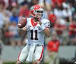 Georgia quarterback Aaron Murray (11) passes against Ole Miss  at Vaught-Hemingway Stadium in Oxford, Miss. on Saturday, September 24, 2011. Georgia won 27-13.