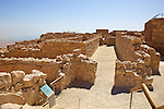 Northern Palace Entry Stairway At Masada