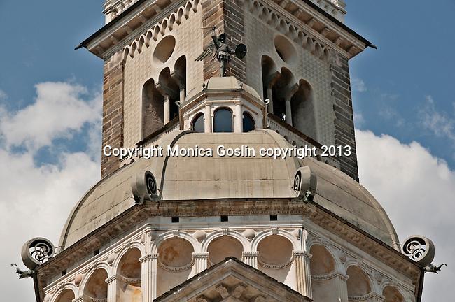 Basilica della Madonna di Tirano church dome, the church is dedicated to the appearance of the Virgn to Mario Degli Omodei in 1504 in Tirano, Italy
