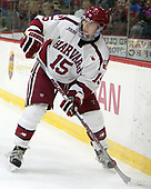 Seb Lloyd (Harvard - 15) - The Harvard University Crimson defeated the visiting Cornell University Big Red on Saturday, November 5, 2016, at the Bright-Landry Hockey Center in Boston, Massachusetts.
