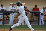 Ole Miss' Matt Smith (16) hits a two run home run  against Samford at Oxford-University Stadium in Oxford, Miss. on Tuesday, March 22, 2011.