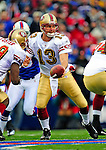30 November 2008: San Francisco 49ers' quarterback Shaun Hill in action against the Buffalo Bills at Ralph Wilson Stadium in Orchard Park, NY. The 49ers defeated the Bills 10-3. ***** Editorial Use Only ******..Mandatory Photo Credit: Ed Wolfstein Photo