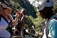 April 2009. Karkloof Canopy Tours, KwaZulu-Natal, Midlands. South Africa. Xolani Zuma