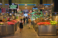 Grand Central, Public Market, Produce, Los Angeles CA, Farm-fresh produce fresh fruits, vegetables, meats, poultry and fresh fish from California and around the world High dynamic range imaging (HDRI or HDR)