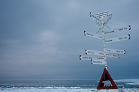 Spitsbergen road sign