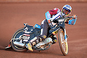 Heat 5: J Davidsson (blue) - Lakeside Hammers vs Wolverhampton Wolves - Sky Sports Elite League Speedway at Arena Essex Raceway, Purfleet - 24/05/10 - MANDATORY CREDIT: Gavin Ellis/TGSPHOTO - Self billing applies where appropriate - Tel: 0845 094 6026