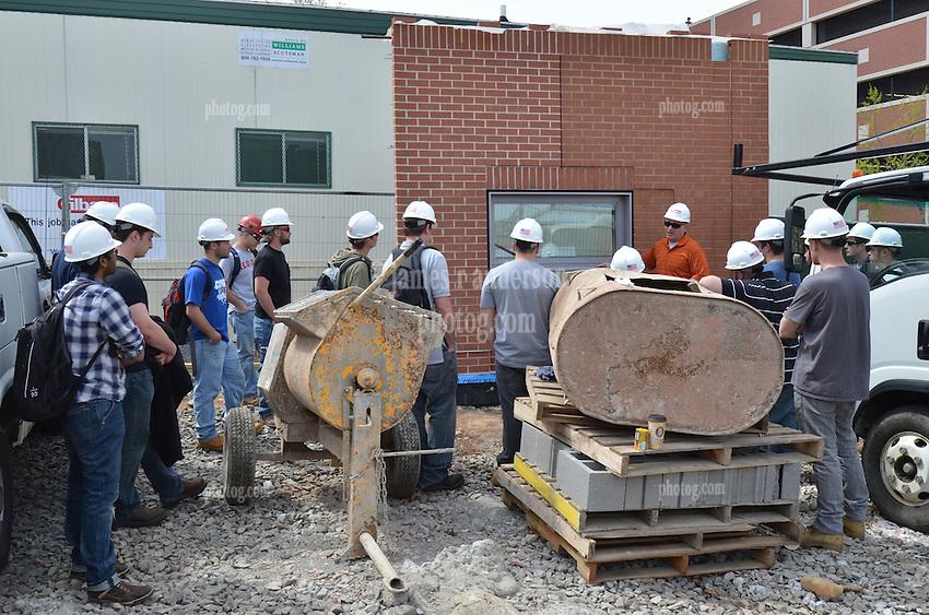 Central Connecticut State University.  New Academic Building.  Project No: BI-RC-324.CCSU Construction Management Class Field Trip   18 April 2012