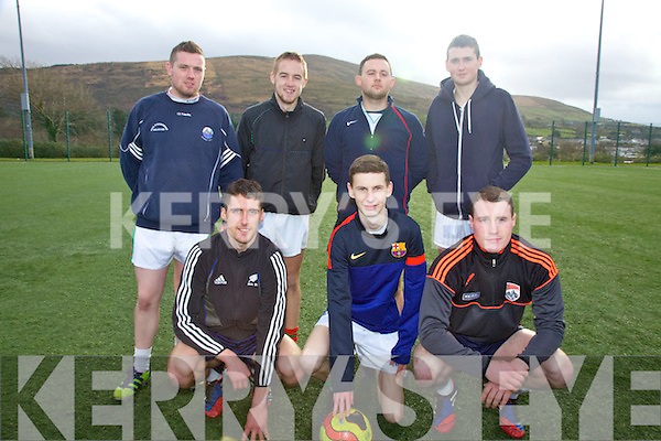 Reen Rovers taking part in the OTW Rowing Clubs soccer blitz on St Stephens Day pictured here front l-r; Enna O'Connor, Shane O'Driscoll, Mark Griffin, back l-r; Ciarán O'Shea, Jason O'Shea, Emmett Curran & Kevin Cronin.