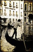 Gondolier - Venice, Italy
