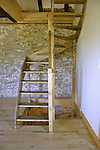 staircase in old stone house